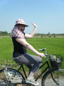 Biking through the Thai country side